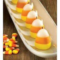Tag Halloween Candy Corn Scented Candles, Set of 6