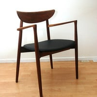 Hvidt &amp; MolgaardNielsen Teak Arm Chair Wegner Era by AMBIANIC