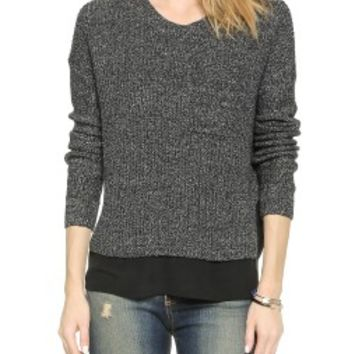 Madewell Cora Ribbed Pullover Sweater