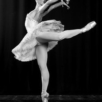 ballerina, ballet, black and white, dance, dancing, people - inspiring picture on Favim.com
