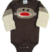 Sock monkey baby gift for boys or girls