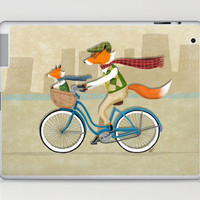 Biking Foxes Laptop & iPad Skin by Dale Keys | Society6