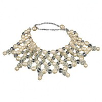 20th Century Beaded Bib Necklace