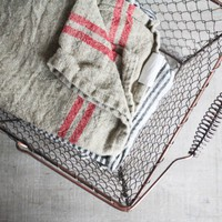 Olive Manna &amp;mdash; Pair of Linen Hand Towels