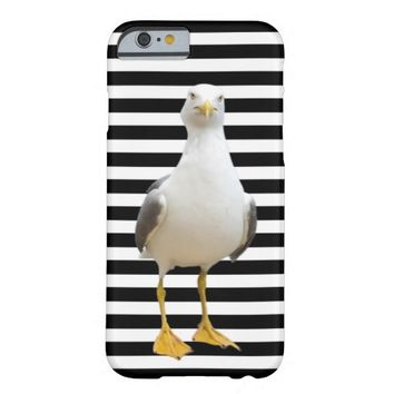 Seagull on Striped Background - iPhone 6 Case