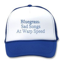 Bluegrass: Sad Songs At Warp Speed Mesh Hat from Zazzle.com