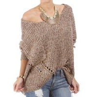 Mocha Cozy Knit Sweater