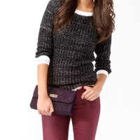 Essential Metallic Threaded Sweater