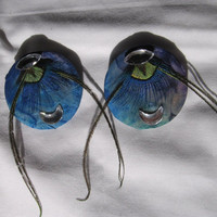 Peacock Moon Earrings