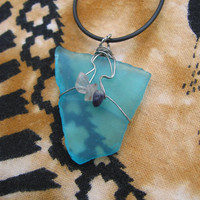 Sea Glass F Necklace