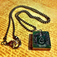 Harry Potter Slytherin Scrabble tile keychain