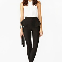 Peplum Skinny Pant
