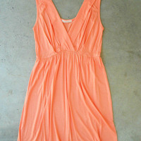 Summer Walks Dress in Peach [3000] - $32.00 : Vintage Inspired Clothing & Affordable Fall Frocks, deloom | Modern. Vintage. Crafted.