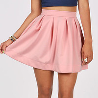 Pleat Puff Skirt | Trendy Clothes at Pink Ice