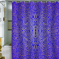 DENY Designs Home Accessories | Jacqueline Maldonado Radiate Gold Royal Shower Curtain