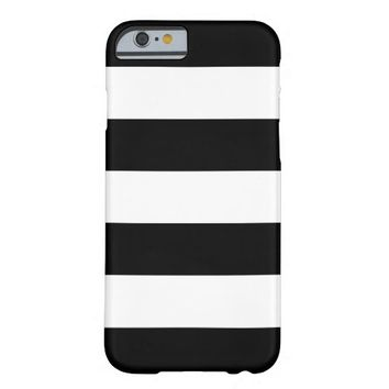 Black and White Striped - iPhone 6 Case