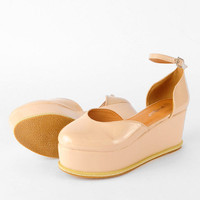 Triumph Patent Flatform Shoes $40