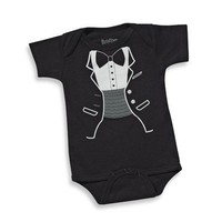 Tiny Tux Bodysuit by Sara Kety - Size 0-6 - Whimsical & Unique Gift Ideas for the Coolest Gift Givers