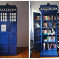 Awesome Tardis Bookcase - Imgur