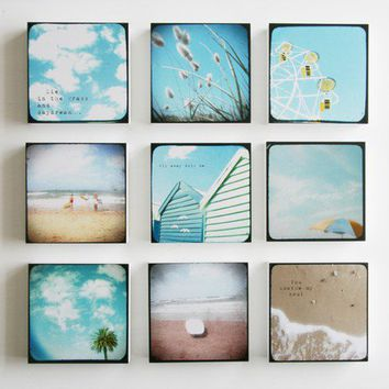 Summer Love set of 9 photo blocks by SusannahTucker on Etsy