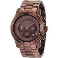 Michael Kors Men's MK8204 Runway Chocolate Chronograph Watch - designer shoes, handbags, jewelry, watches, and fashion accessories | endless.com