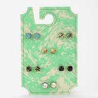 Faceted Post Earring Set