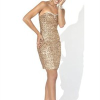 Stunning A-line Sweetheart Knee Length Sequin Cocktail Dress-$129.99-ReliableTrustStore.com