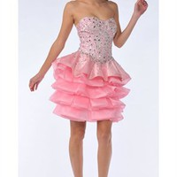Cute A-line Sweetheart Knee Length Sequin Cocktail Dress-$137.99-ReliableTrustStore.com