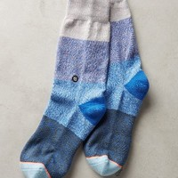Indigo Patch Socks by Stance Blue One Size Lounge