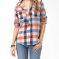 Herringbone Buffalo Plaid Shirt