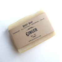 Ginger soap - Unscented soap, Vegan soap