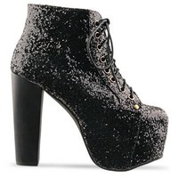 Jeffrey Campbell Lita in Black Glitter at Solestruck.com
