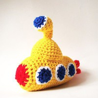 Plush Yellow Submarine - Crochet Yellow Submarine - Amigurumi