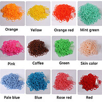 [NewYearSale]BaoGuang600PCS Rainbow Loom Style Fashion Loom Rubber Band(1Package S Clip,Assorted Colors) - Default