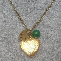 LOCKET BIRD GREEN JADE NECKLACE