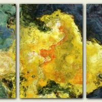 Triptych Abstract Giclee On Canvas .. on Luulla
