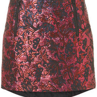 Metallic Jacquard Dip Skirt - New In This Week  - New In