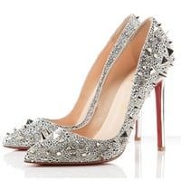 Christian Louboutin Pigalili 120mm Pumps Silver [2011072111] - $205.00 : Christian Louboutin Shoes On Sale, Enjoy 75% Off The Shoes Outlet!