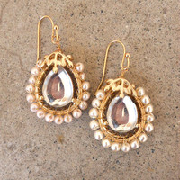 Looking Glass Earrings [3303] - $14.00 : Vintage Inspired Clothing & Affordable Fall Frocks, deloom | Modern. Vintage. Crafted.