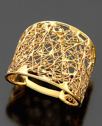 14k gold wire filigree ring rings from macy s