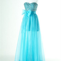 2012 A-line Organza ball gowns Bridesmaid Dress Evening Prom Dress