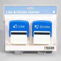 Like & Dislike Stamps | Set of 2 Novelty Stamps | fredflare.com