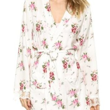 Wildfox Lover's Bouquet Lace Dressing Robe