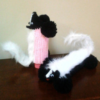 Air Freshener Cover, Skunk Accessories, Room Spray Cover, Bathroom Butties, Animal Decor, Deodorizer Covers