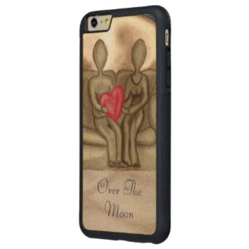 Over The Moon Carved® Maple iPhone 6 Plus Bumper Case