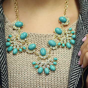 Turquoise Treasures Necklace - TURQUOISE