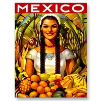 Vintage Mexico Travel Poster Postcards from Zazzle.com