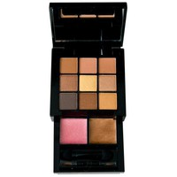 NYX Bronze Smokey Look Kit, 9 eye shadows 2 lip colors, applicator/mirror
