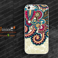 fashionable  iphone 5 case, iphone 5 cover ,beautiful flower printing,unique Iphone case 5  W0014