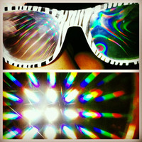 Rave light show glasses- Glow in the dark zebra